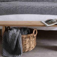 Plaid grijs wol acryl moyha warm pleat