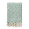 Plaid groen lamswol klippan knut
