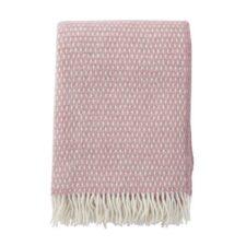 Plaid roze lamswol klippan knut