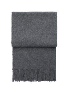 alpacawol effen grijs plaid