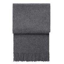 plaid alpacawol grijs effen