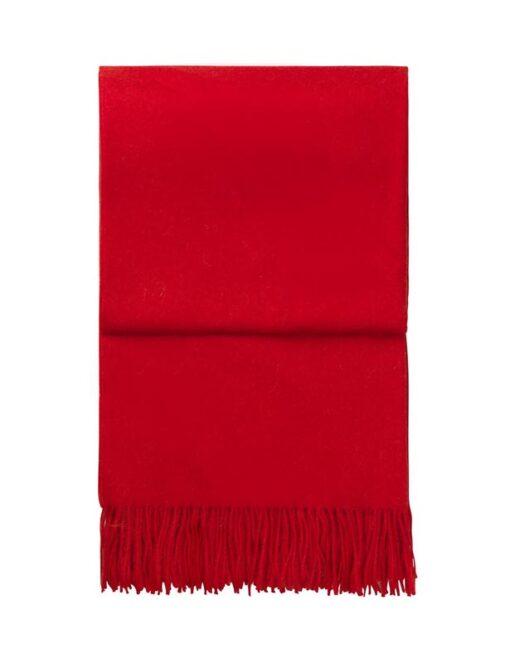 plaid rood effen alpacawol