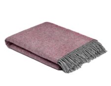 plaid roze grijs wol cosy rose mcnutt