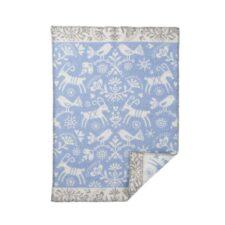 wiegdeken blauw lamswol dieren