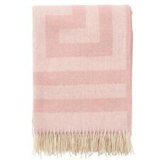 Plaid roze merinowol lamswol memphis
