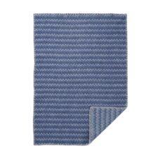 wiegdeken blauw eco lamswol