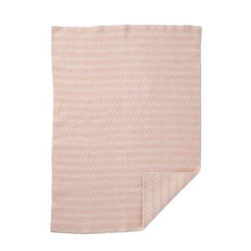 wiegdeken roze eco lamswol